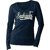New Era Women's Seattle Seahawks Long Sleeve Navy Shirt