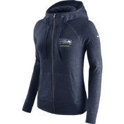 Nike Women's Seattle Seahawks Gym Vintage Full-Zip Navy Hoodie