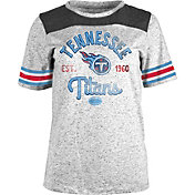NFL Team Apparel Women's Tennessee Titans Peppercorn Throwback Grey T-Shirt