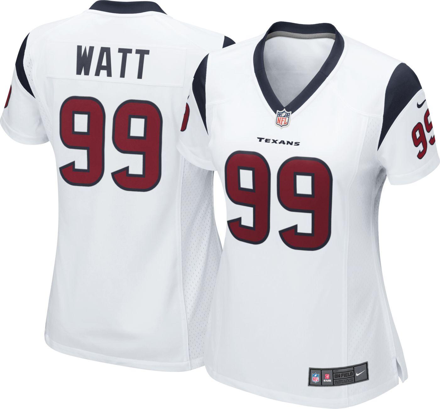 Nike Women's Away Game Jersey Houston Texans J.J. Watt #99
