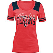 New Era Women's Houston Texans Red Tri-Blend T-Shirt