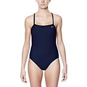 Nike Women's Nylon Core Solid Lingerie Tank Swimsuit