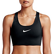 c25908f864 Product Image · Nike Women s Pro Classic Swoosh Compression Sports Bra.  Black White · Carbon Heather ...