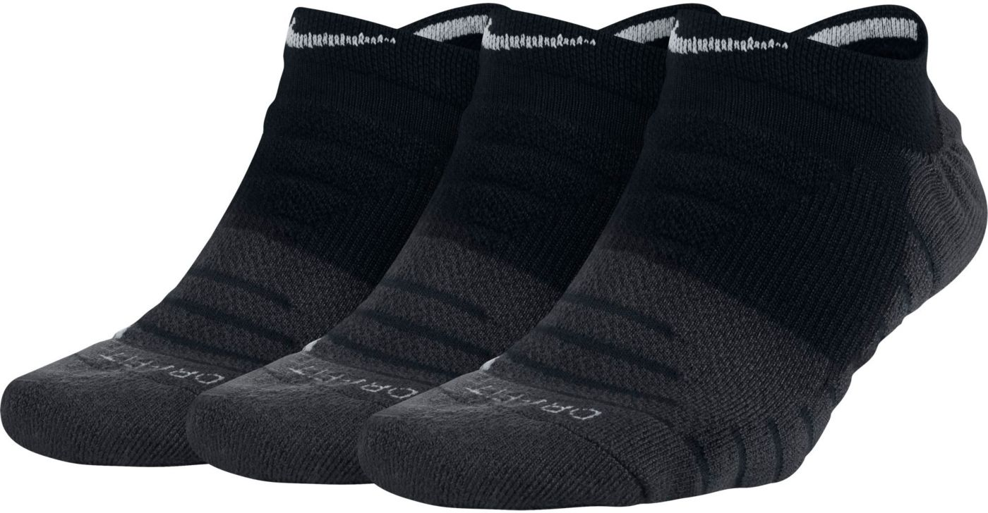 Nike Women's Dry Cushion No-Show Training Socks 3 Pack