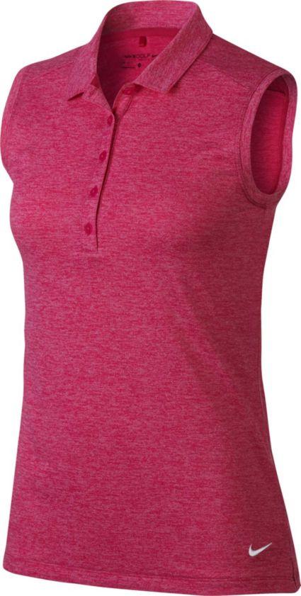 Nike Women's Icon Sleeveless Heather Polo