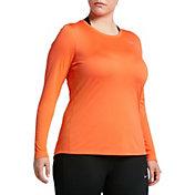 Nike Women's Plus Size Miler Long Sleeve Running Shirt