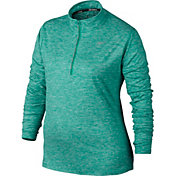 Nike Women's PLus Size Element Half Zip Long Sleeve Running Shirt