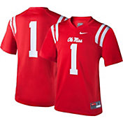 Nike Youth Ole Miss Rebels #1 Red Game Football Jersey