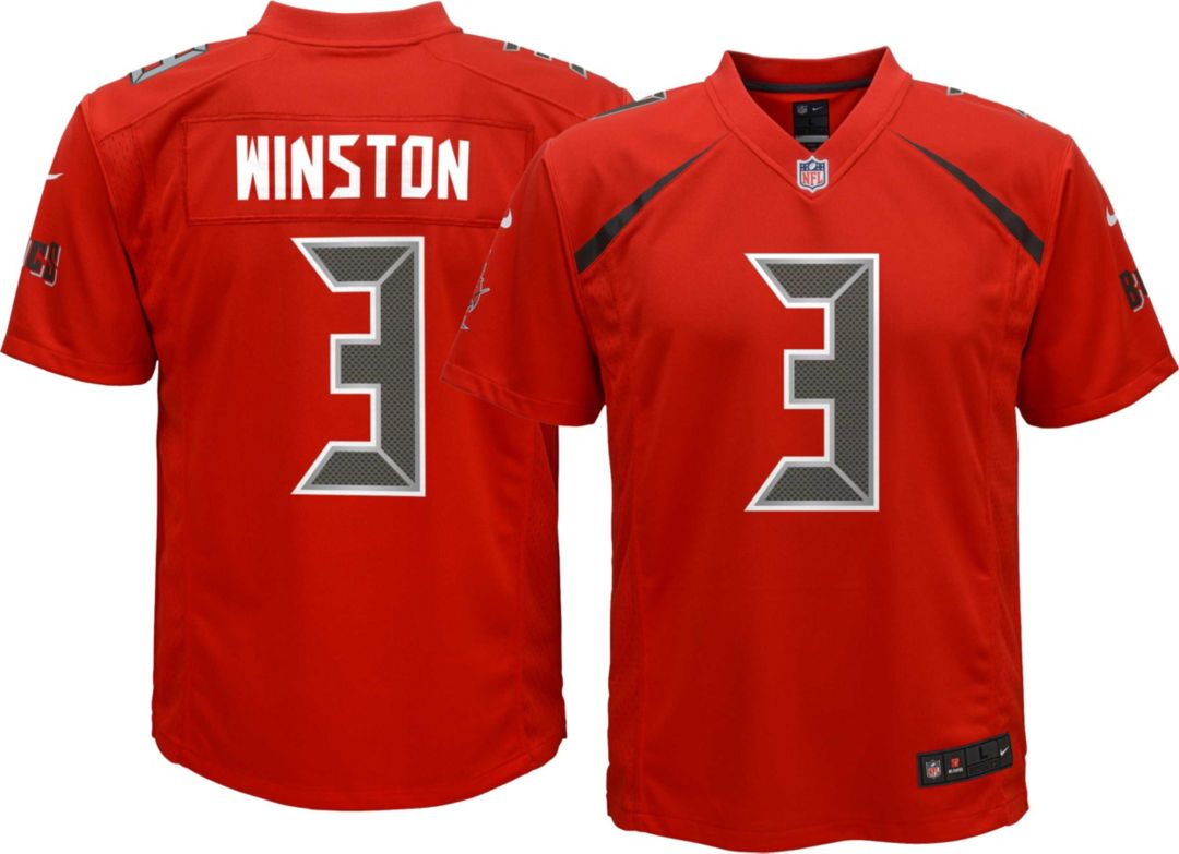 size 40 eb283 dc6a8 Nike Youth Color Rush Game Jersey Tampa Bay Buccaneers Jameis Winston #3
