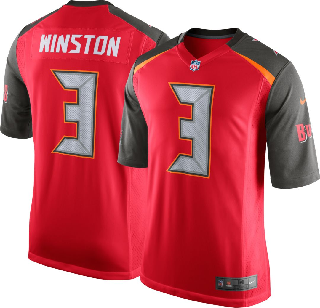 reputable site 6eebf 84b29 Nike Youth Home Game Jersey Tampa Bay Buccaneers Jameis Winston #3