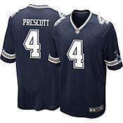 Nike Youth Dallas Cowboys Dak Prescott #4 Navy Game Jersey