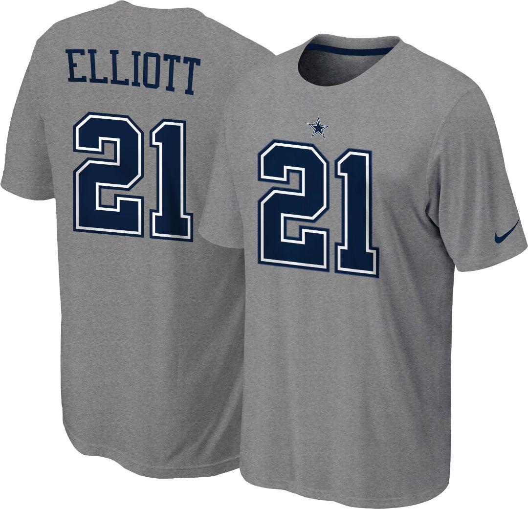 official photos 7a62b fd3a7 Nike Youth Dallas Cowboys Ezekiel Elliott #21 Pride Grey T-Shirt