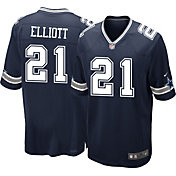 Nike Youth Dallas Cowboys Ezekiel Elliott #21 Navy Game Jersey