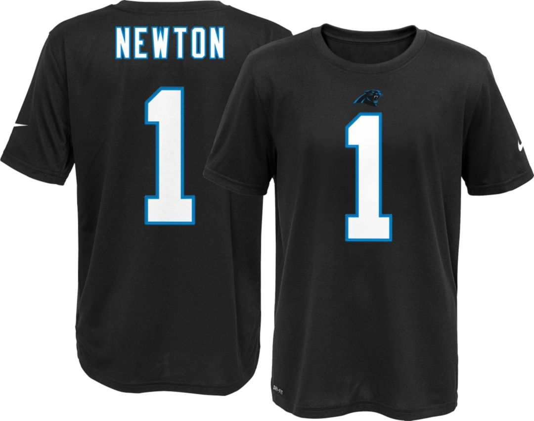best sneakers 8720a 0de48 Nike Youth Carolina Panthers Cam Newton #1 Black T-Shirt