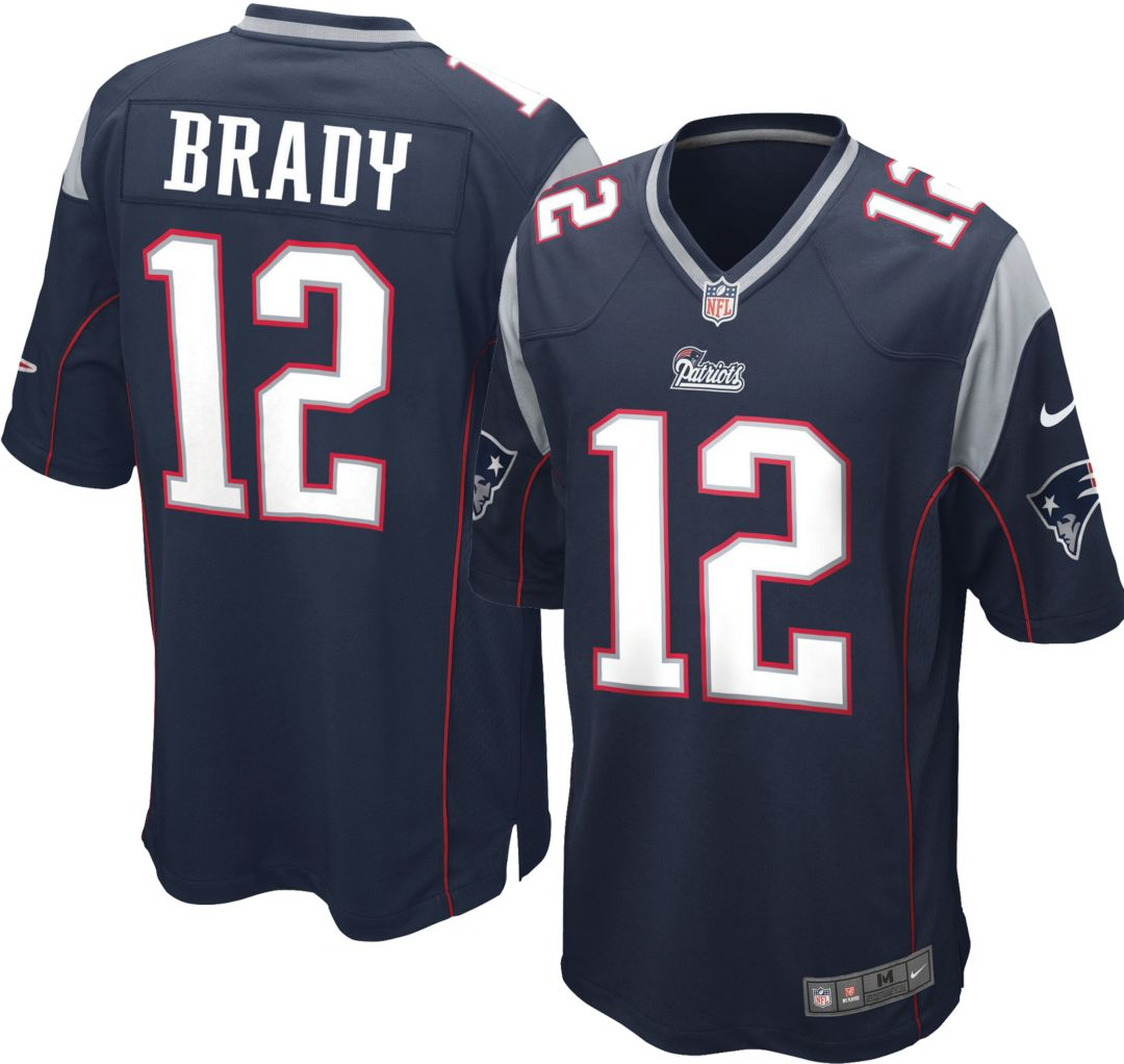 online store 14d8b d3acf Nike Youth Home Game Jersey New England Patriots Tom Brady #12