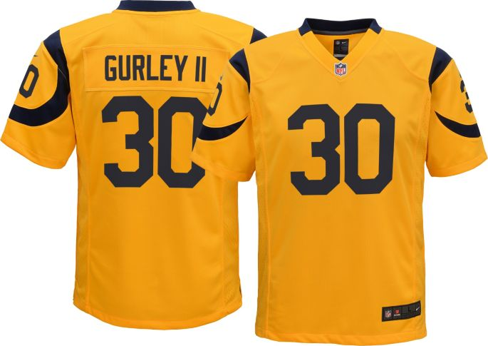 outlet store 7415b 762f2 Nike Youth Color Rush Game Jersey Los Angeles Rams Todd Gurley #30