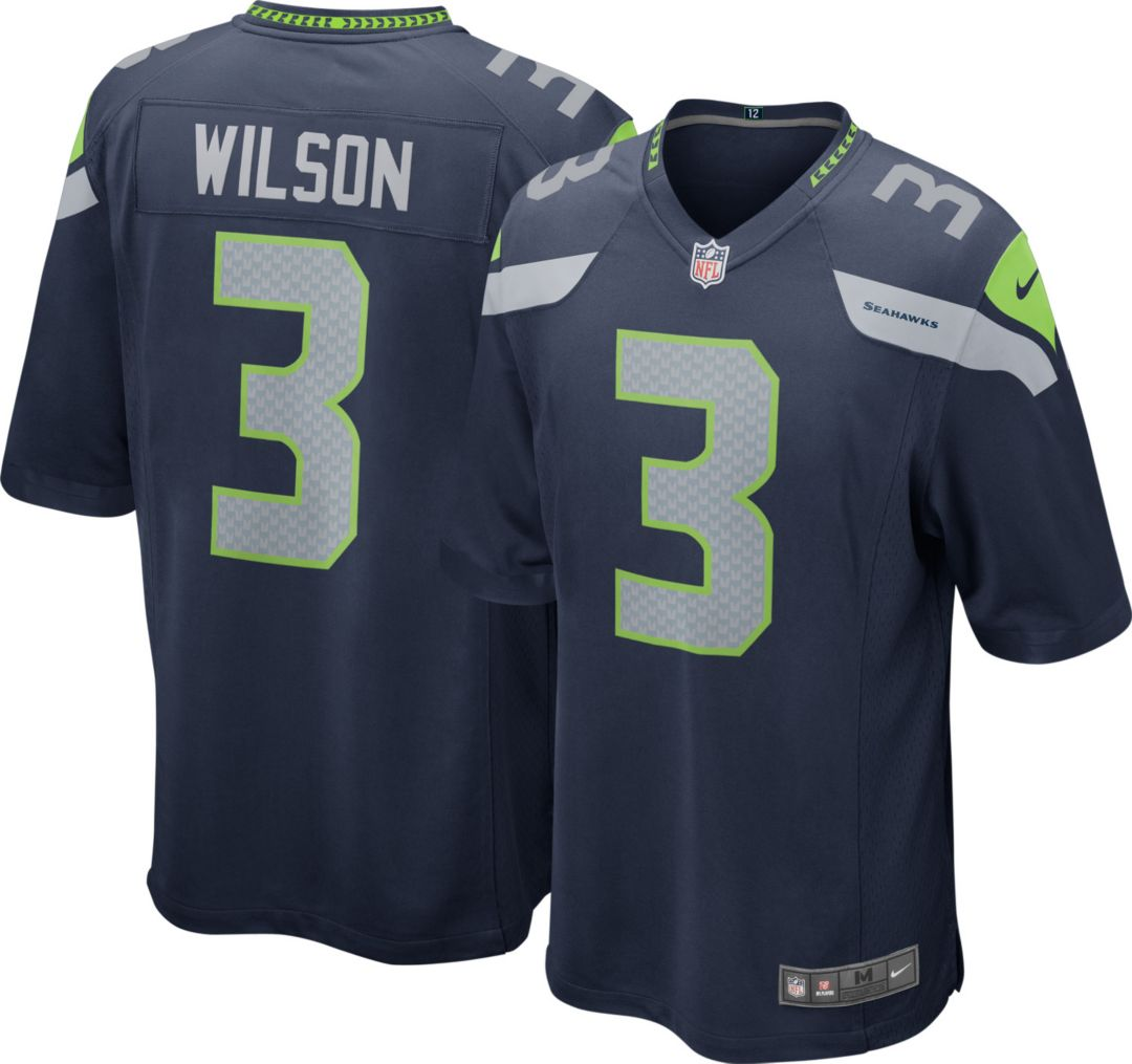 buy online ee116 a5b51 Nike Youth Home Game Jersey Seattle Seahawks Russell Wilson #3