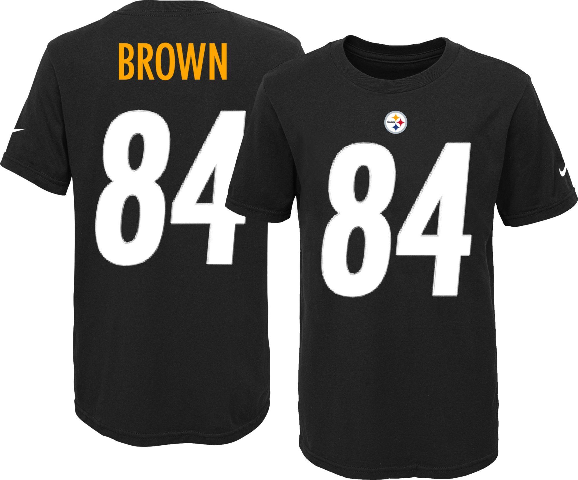 Nike Youth Pittsburgh Steelers Antonio Brown  84 Black T-Shirt ... 1e55fd91e
