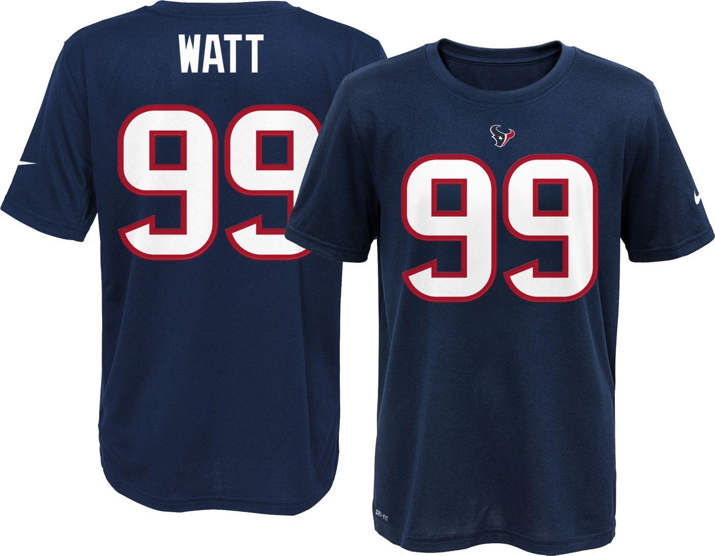 Nike Youth Houston Texans J.J. Watt #99 Navy T-Shirt
