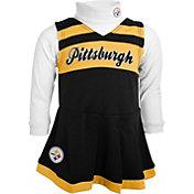 NFL Team Apparel Girls' Pittsburgh Steelers Cheer Black Jumper