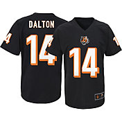 NFL Team Apparel Youth Cincinnati Bengals Andy Dalton #14 Black T-Shirt