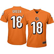 NFL Team Apparel Youth Cincinnati Bengals A.J. Green #18 Orange T-Shirt
