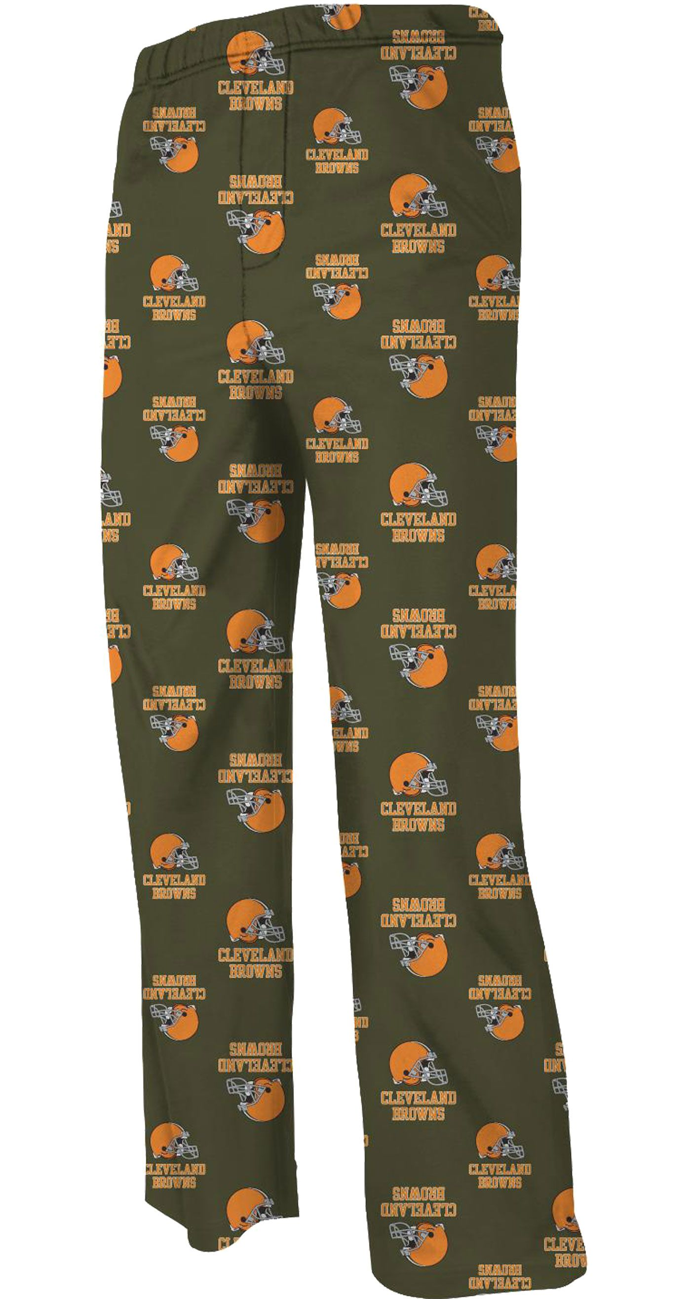 NFL Team Apparel Youth Cleveland Browns Team Print Brown Jersey Pants