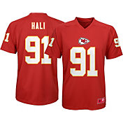 NFL Team Apparel Youth Kansas City Chiefs Tamba Hali #91 Red T-Shirt