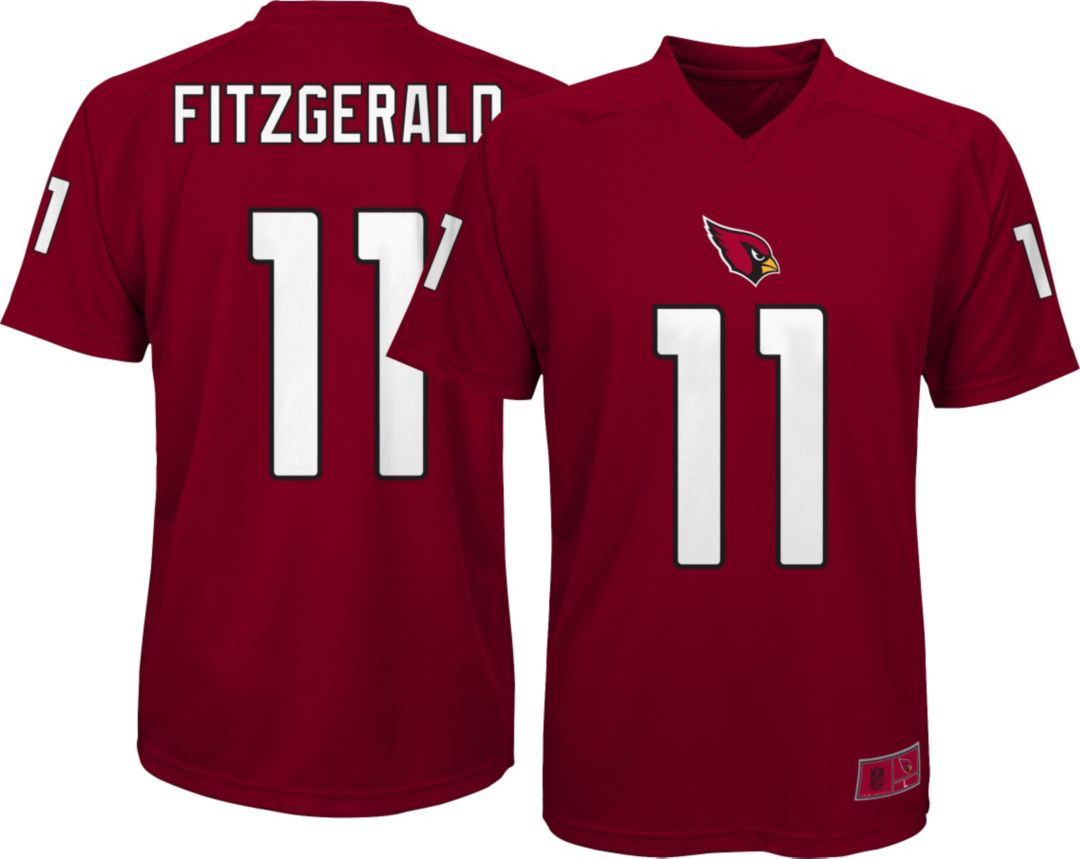 buy online 3df67 27457 NFL Team Apparel Youth Arizona Cardinals Larry Fitzgerald #11 Red  Performance T-Shirt