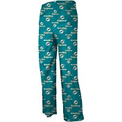 NFL Team Apparel Youth Miami Dolphins Team Print Aqua Dorm Jersey Pants