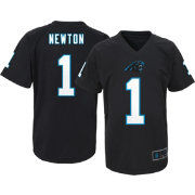 NFL Team Apparel Youth Carolina Panthers Cam Newton #1 Black T-Shirt