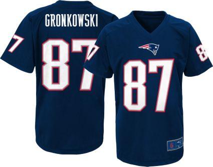 dbd7162c5 NFL Team Apparel Youth New England Patriots Rob Gronkowski  87 Navy ...