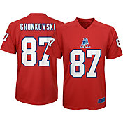 NFL Team Apparel Youth New England Patriots Rob Gronkowski #87 Red T-Shirt