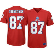NFL Team Apparel Youth New England Patriots Rob Gronkowski  87 Red T-Shirt ae927792e