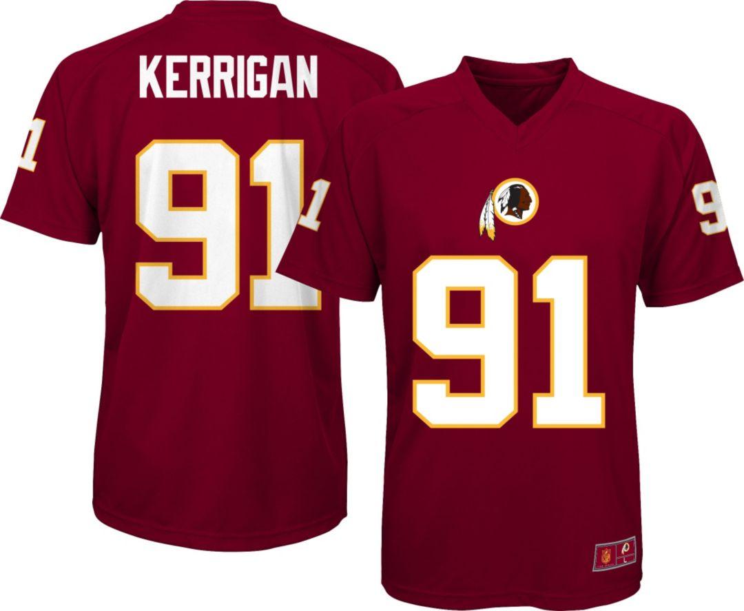 free shipping b1c59 b46e3 NFL Team Apparel Youth Washington Redskins Ryan Kerrigan #91 Red T-Shirt