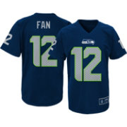 NFL Team Apparel Youth Seattle Seahawks Fan #12 Navy T-Shirt