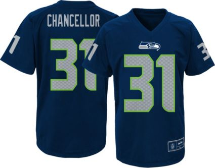 49c6568af7f ... clearance nfl team apparel youth seattle seahawks kam chancellor 31 navy  performance t shirt 14d50 ec8bc