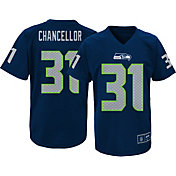 NFL Team Apparel Youth Seattle Seahawks Kam Chancellor #31 Navy Performance T-Shirt