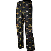 NFL Team Apparel Youth New Orleans Saints Team Print Black Jersey Pants