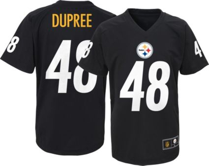 a29296ced NFL Team Apparel Youth Pittsburgh Steelers Bud Dupree  48 Black T ...