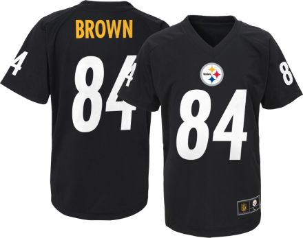 NFL Team Apparel Youth Pittsburgh Steelers Antonio Brown  84 Black T-Shirt 44725a332