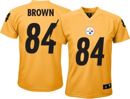 NFL Team Apparel Youth Pittsburgh Steelers Antonio Brown  84 Gold T-Shirt 2daf7bd3f