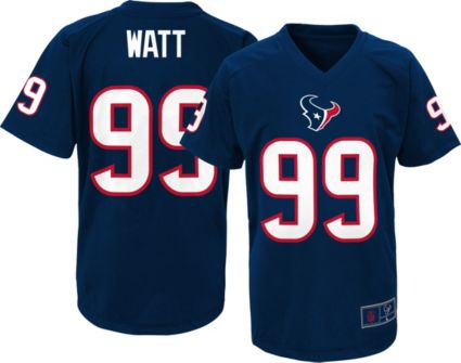 NFL Team Apparel Youth Houston Texans J.J. Watt  99 Navy T-Shirt ... ee3db0dcf