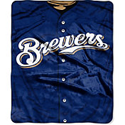 Northwest Milwaukee Brewers Jersey Raschel Throw Blanket