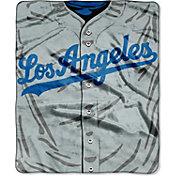 Northwest Los Angeles Dodgers Jersey Raschel Throw Blanket
