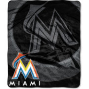 Northwest Miami Marlins Retro Raschel Throw Blanket