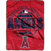 Northwest Los Angeles Angels Structure Micro Raschel Throw Blanket