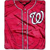 Northwest Washington Nationals Jersey Raschel Throw Blanket