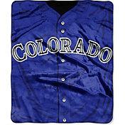 Northwest Colorado Rockies Jersey Raschel Throw Blanket
