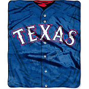Northwest Texas Rangers Jersey Raschel Throw Blanket